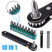 10 em 1 mini alça catraca chave de fenda conjunto ferramenta catraca s2 chave de fenda para multifunções conjuntos
