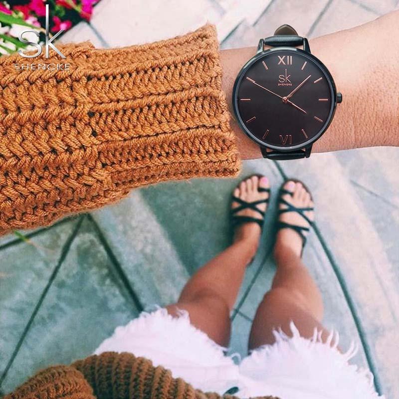 Women Watches Hot fashion creative watches women New Elegant Dress Leather Strap Ultra Slim Wrist Watch clock Reloj Mujer 6
