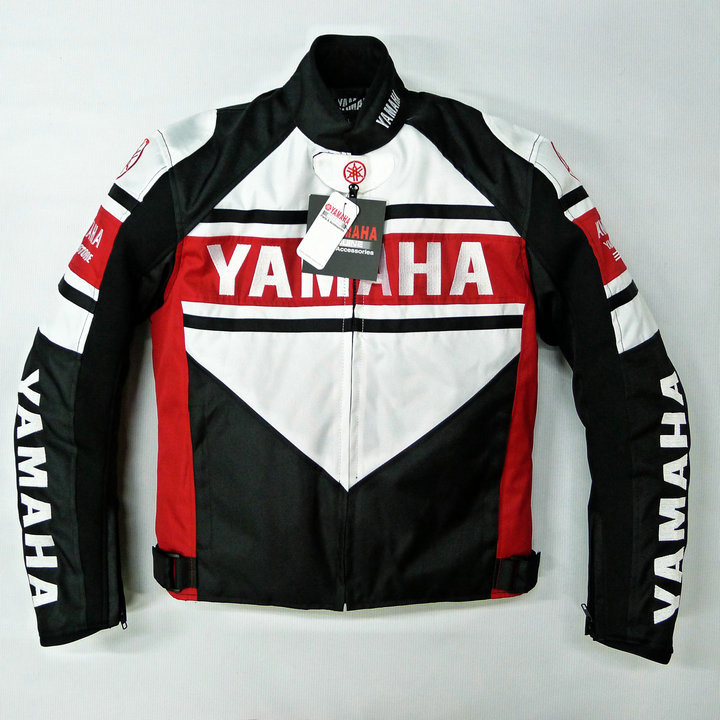 8ad297dbd Motorcycle Blue White Protective Jacket For YAMAHA Winter Motorbike ...