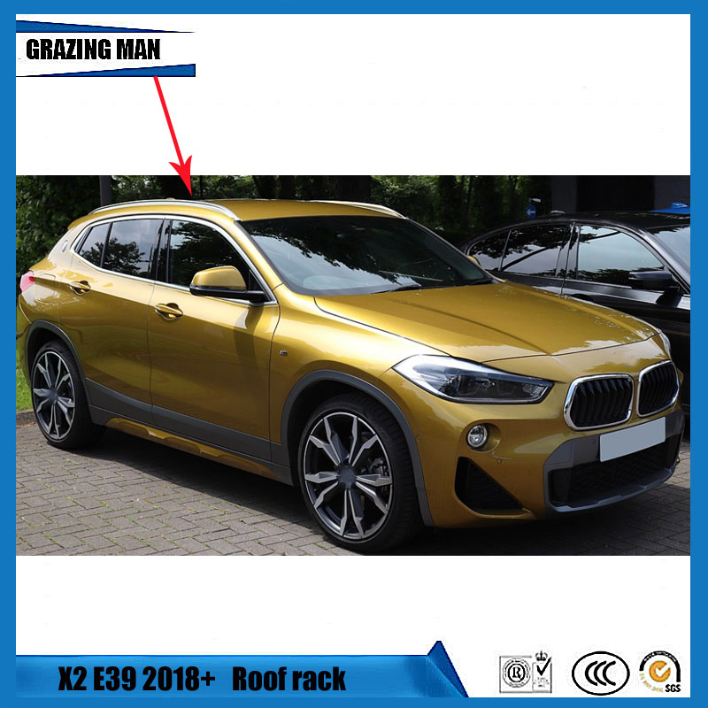 For BMW X2 E39 2018+ Roof Racks Auto Luggage Rack High Quality Brand New Aluminum Paste Installation Car Accessories|Roof Racks & Boxes| |  -