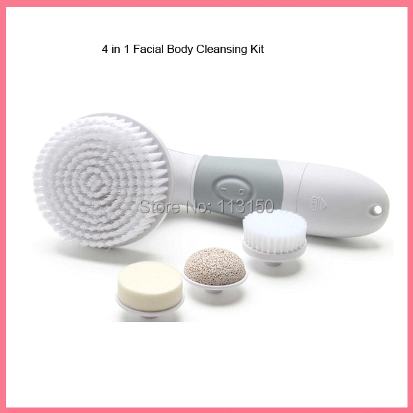 20pcs/lot DHL Free Shipping4 in 1 Eelectric Facial Washing Deep Cleansing System 360 Spin Brush Fore Face and Body Beauty Spa 1pc lot ps 30a digital ultrasonics cleaners 180w 6 5l capacity with washing basket free shipping by dhl