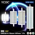 YCDC Lâmpada LED Sem Cintilação/Strobe Poder IC Design Inteligente LEVOU Milho lâmpada de Alta Lúmen R7S 78/135/189mm 3014 longa Vida CONDUZIU a luz do Ponto