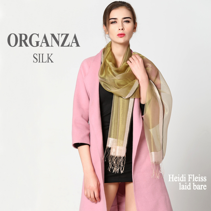 High Quality Pure Color Scarves Double Sides Real Silk Cashmere Wool Pashmina Scarf Shawls and Wraps Elegant Female Foulard