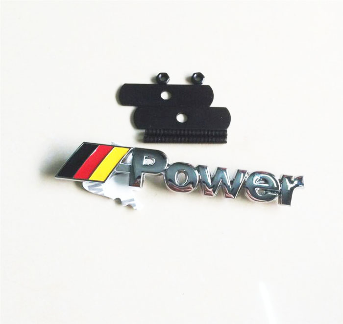 Car Styling M Mpower Logo Grill Badge Hood Grille Emblem Brands Marks front grille led emblem logo light 4 colors abs decorative grill lamp for f ord r anger t7 2016 2017 car styling