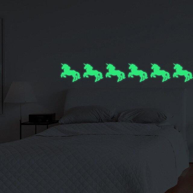 Unicorno Adesivi Da Parete Luminosa Glow in The dark Per Bambini ...