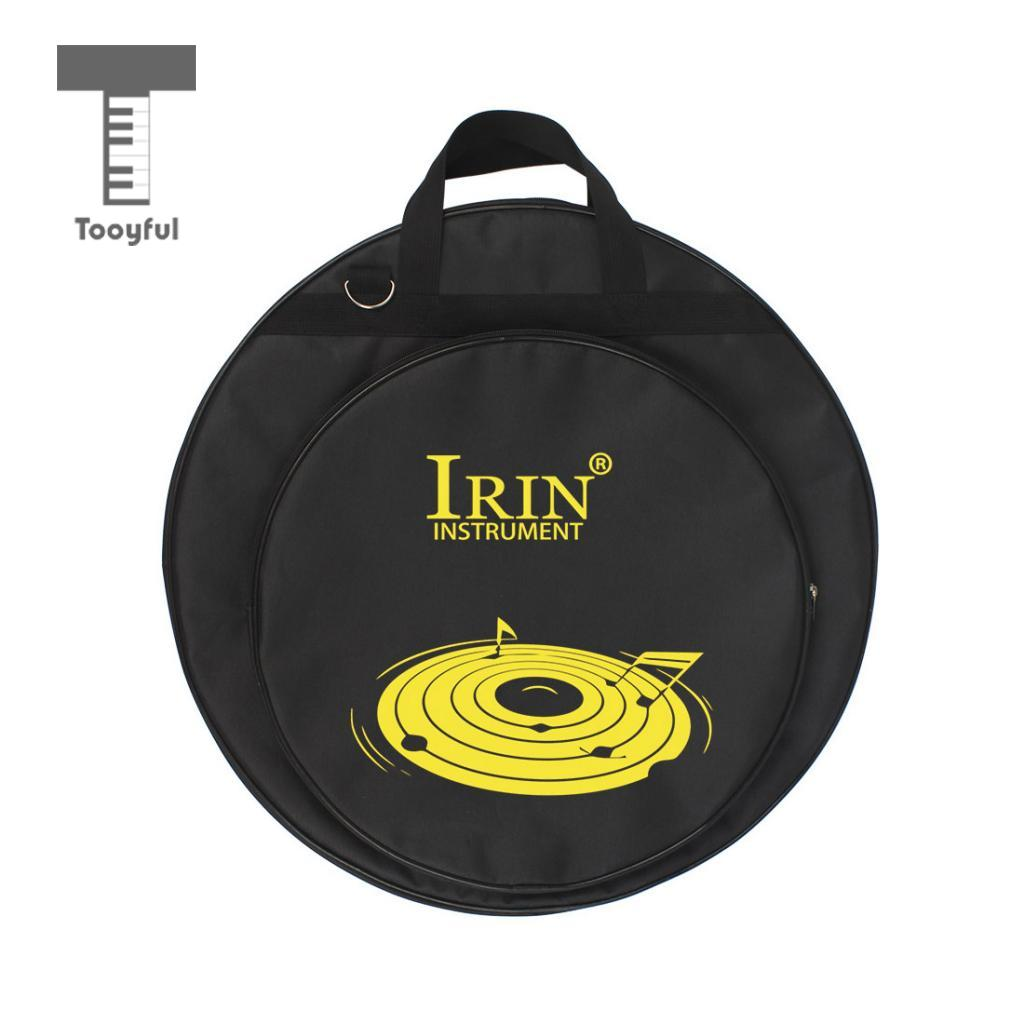 Tooyful Durable 21inch Cymbal Bag Case Holder Container With Carry Handle For Drum Cymbal Set Accessory Black