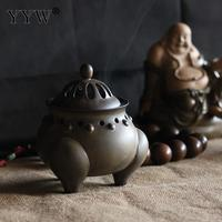 Incense Coil And Cones Holder Incense Coil Burner Backflow Aroma Smoke Burner Incenso Aromatherapy Durable Ceramic Home Decor