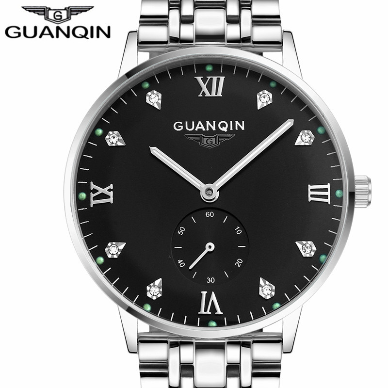 Men Automatic Mechanical Wristwatch Top Brand GUANQIN Watch Men Fashion Luminous Clock Male Stainless Waterproof Watches mens fashion top brand watch men automatic mechanical wristwatch stainless steel waterproof luminous male clock relogio masculino 46