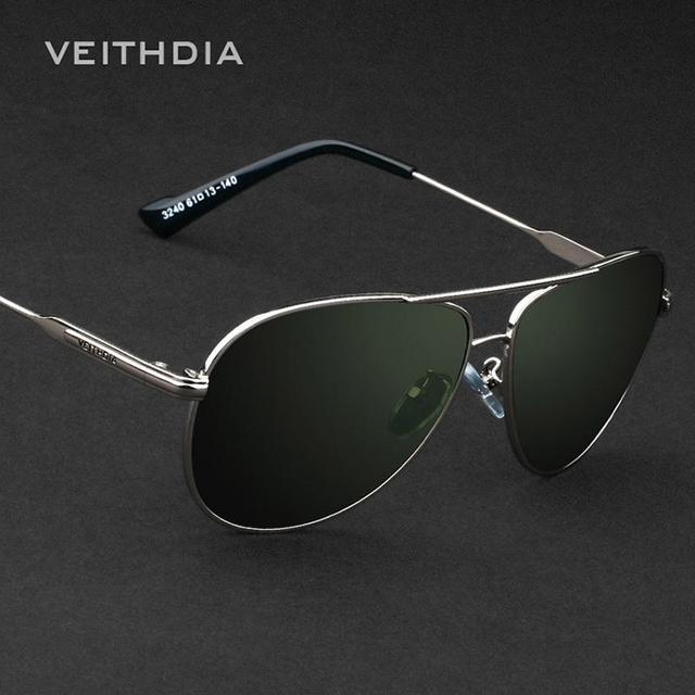 Sunglasses Men Brand Designer Fashion Polarized UV400 Eyes Protect Sun Glasses Gentleman With VEITHDIA Original VEITHDIA