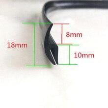 Универсальная 1,7 м Автомобильная Передняя панель на лобовое стекло декоративная отделка уплотнительная Защитная Резиновая лента Автомобильная панель на лобовое стекло уплотнительная полоса