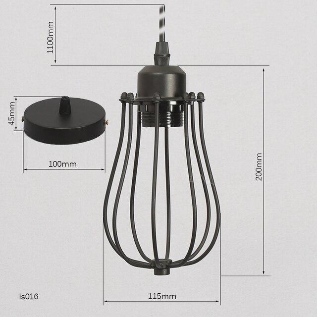 Retro Vintage Edison Pendant Light Bulb Iron Guard Wire Cage ...