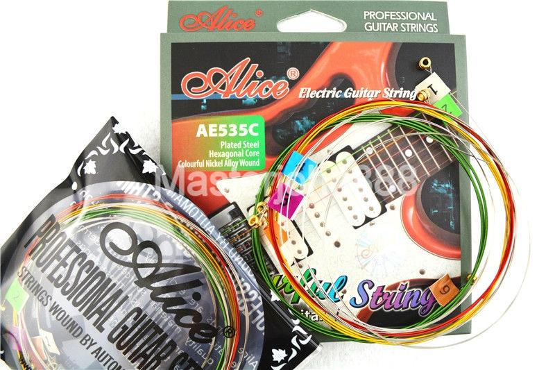 Alice AE535C Kleurrijke elektrische gitaarsnaren Verzilverd en - Muziekinstrumenten - Foto 4