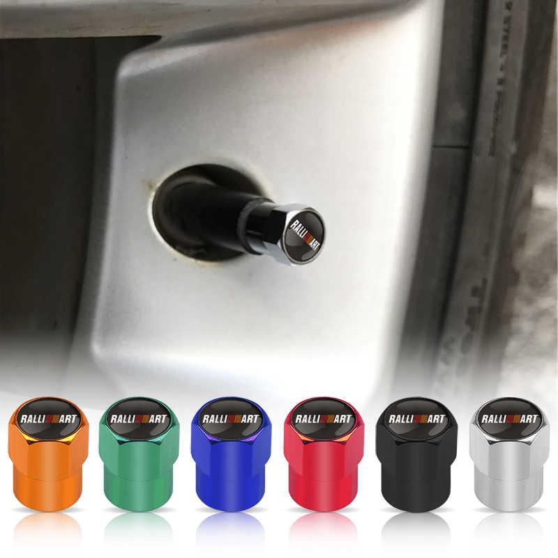 4 piezas de decoración de coche tapas de rueda de coche tapas de válvula de neumático para Mitsubishi RalliArt Lancer Ralli Art 10 emblemas de coche Asx placa de accesorios