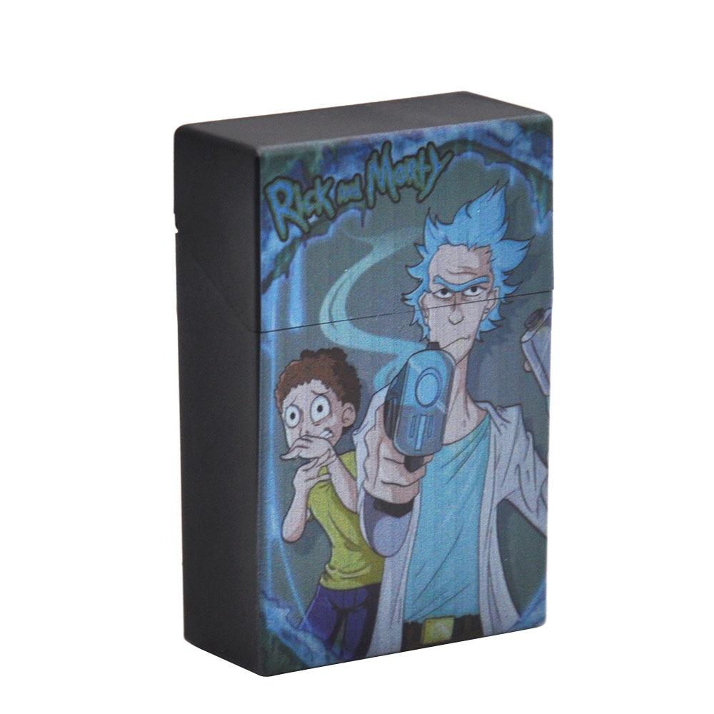 Чехол для сигарет Рик и Морти, пластиковый чехол для сигарет, чехол для обычных сигарет, портативный держатель для сигарет - Цвет: Type6