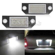 2Pcs Car License Number Plate Light 24-LED Lamp 6W 12V For C-Max
