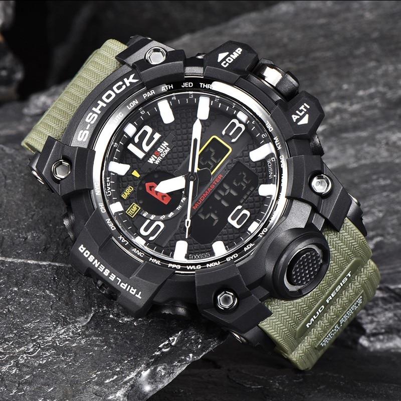 WISSIN New watches Men s Quartz LED luxury Waterproof Wrist Watch Men Military Sports Top Brand