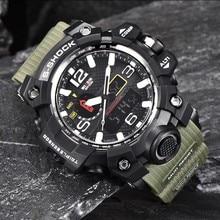 WISSIN Nuevos relojes del Cuarzo de Los Hombres LED de lujo Impermeable Del Reloj de Los Hombres Militar Deportes Top Brand Digital de reloj Del Relogio Masculino