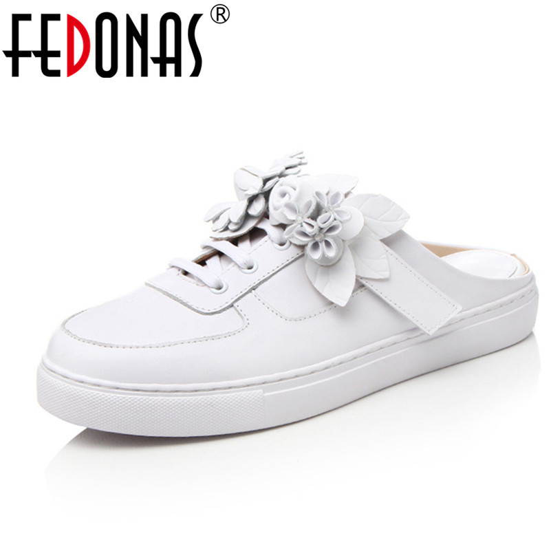 FEDONAS New 2018 Women Genuine Leather Shoes Slip On Women Flats Comfort Casual Shoes Woman Moccasins Spring Summer Winter Shoes 2017 summer new women fashion leather nurse teacher flats moccasins comfortable woman shoes cut outs leisure flat woman casual s