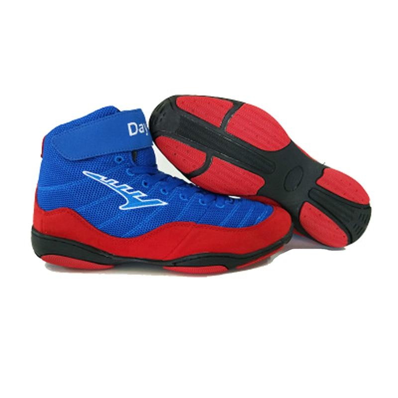 Gym Sport Wrestling Stiefel Profiboxen Schuhe Getriebe Turnschuhe Gewichtheben Powerlifting Ausbildung Kampf Schuhe Schwarz Blau Kaufe Jetzt Sport & Unterhaltung