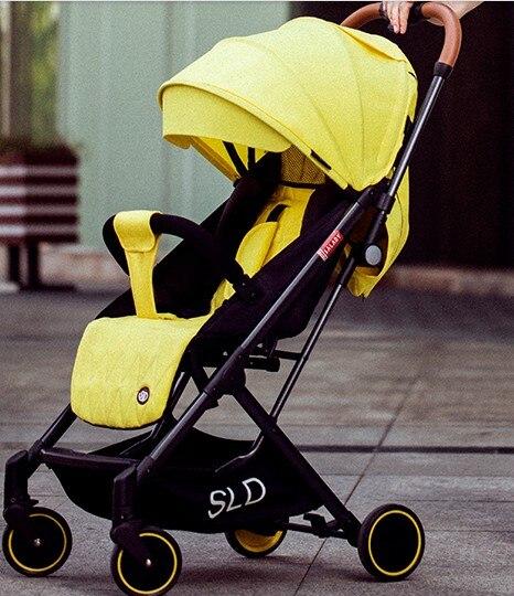 Baby stroller can sit reclining lightweight folding ultra light portable compact newborn stroller