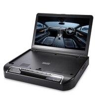 Zeepin 13,3 дюймов Автомобильный мультимедийный потолочный плеер 1080 P 120 градусов вращающийся Экран ИК FM удаленного Управление Беспроводной игр