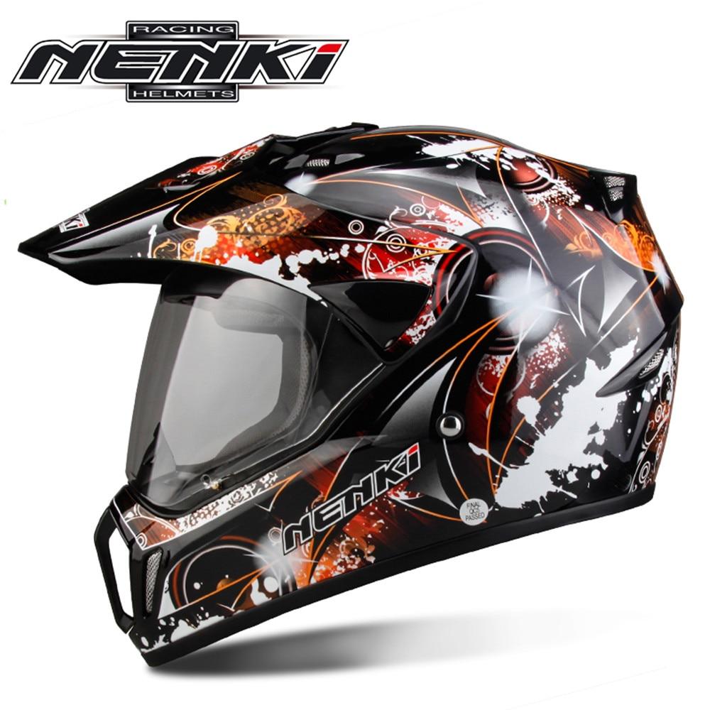 NENKI  Motorcycle Motocross Helmet Capacete da Motocicleta Cascos Moto Casque Kask Dirt Bike 310HS Racing ATV Full Face Helmet стоимость