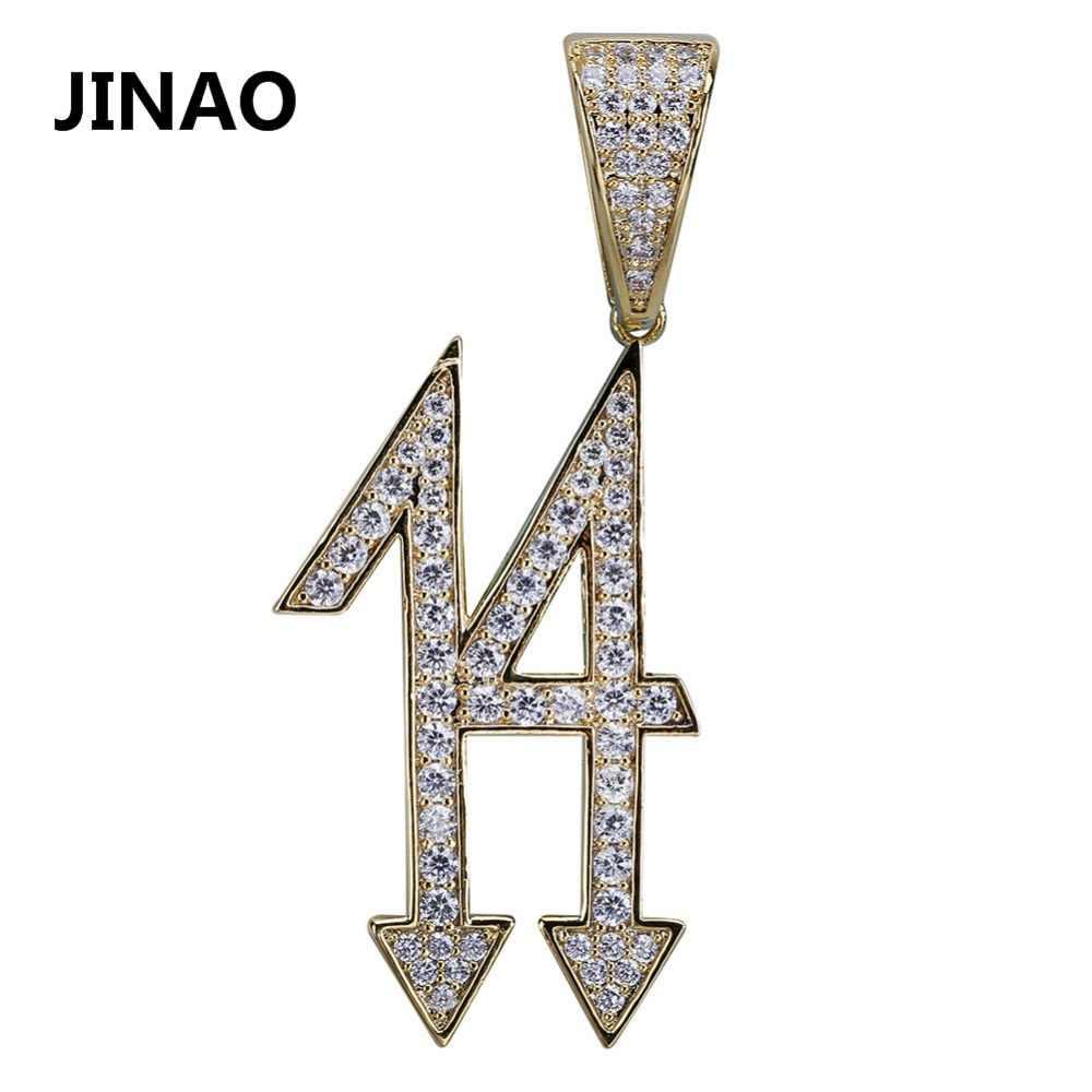 จิงโจ้ใหม่แฟชั่น 14 จี้สร้อยคอผู้หญิงผู้ชาย Zircon เครื่องประดับ Hip Hop Gold Silver Iced Out Charms สำหรับของขวัญ