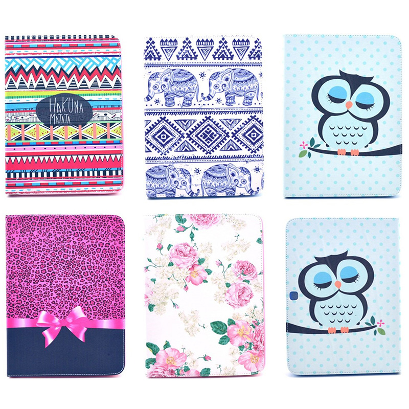 For Samsung GALAXY Tab 4 10.1 SM-T531 T530 Case Fashion Bowtie Rose Owl Tower Wallet Flip PU Leather Tablet Back Cover DP00E fashion bowtie rose owl pattern wallet flip pu leather tablet back cover for samsung galaxy tab 4 8 0 t330 sm t331 case funda