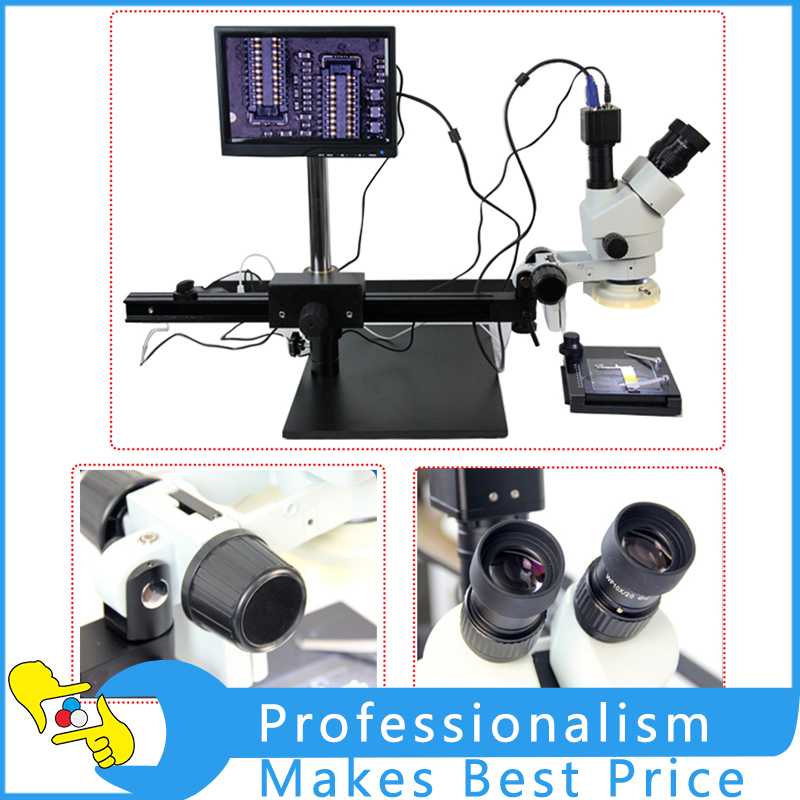все цены на Stereo Microscope 7x-45x Retractable Large Rack Cell Phone Repair Trinocular Boom Stand Zoom Stereo Microscope в интернете