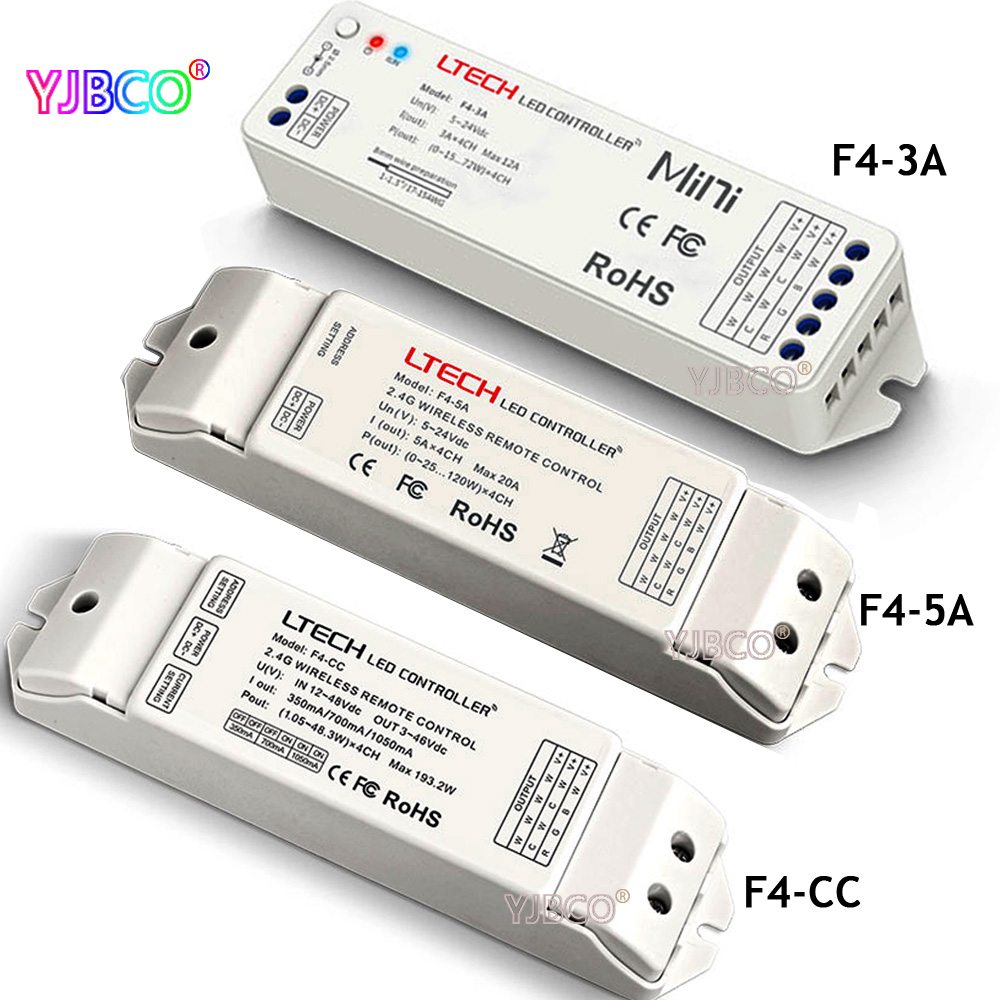 цена Wireless receiver F4-5A/F4-3A(DC5-24V) Compatible with EX Series dimmer for led strip lamp F4-CC(DC12-48V) receiver в интернет-магазинах