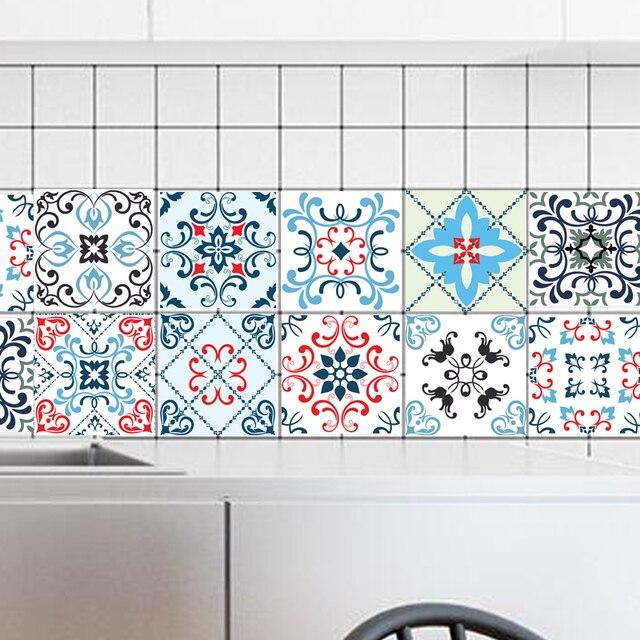 20*20 Cm * 10 Stücke Pvc Bunte Mosaik Wasserdichte Selbstklebende