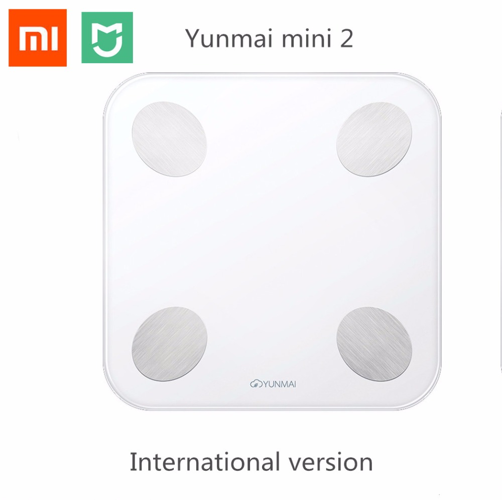 Xiaomi Mijia YUNMAI Balance Smart Body Fat Weight Scales Mini 2 Health Digital Weighting Scale English APP Control Mi home kits mini smart weighting scale digital household body scale lcd display electronic weight balance health care new