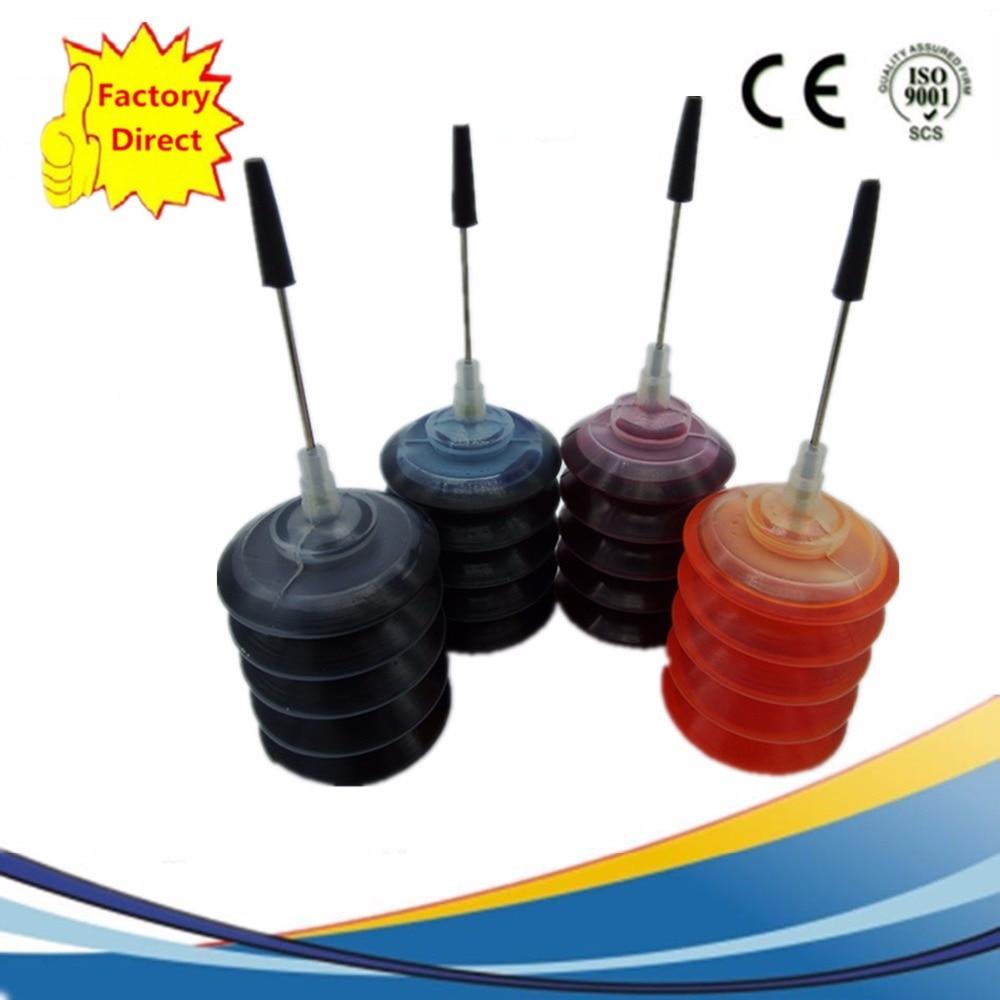 (4 Stks/set) Hoge Kwaliteit Gespecialiseerd Dye Refill Inkt Kit Voor Canon Alle Inkjet Printer Consumenten Eerst
