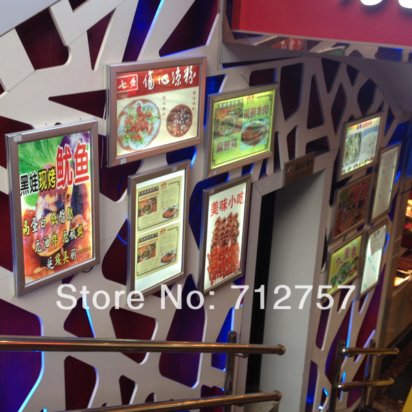 outdoor aluminum frame wall mounted led light box signs on