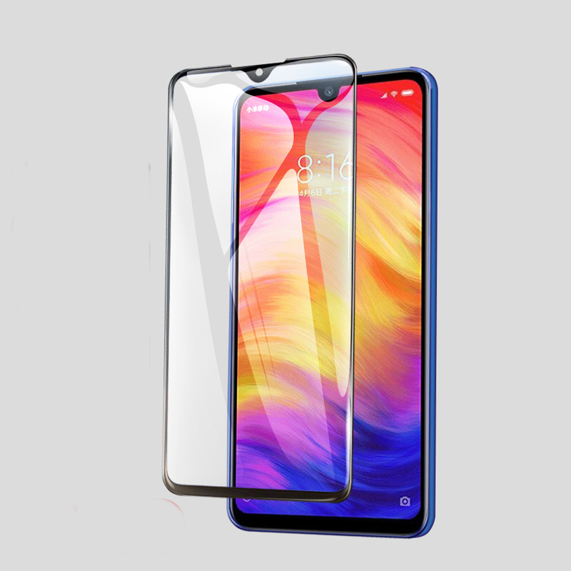 9D Full Coverage Screen Protector Tempered Glass For Redmi Note 7 Protective Glass For Xiaomi Redmi Note 7 Pro Protector Film in Phone Screen Protectors from Cellphones Telecommunications
