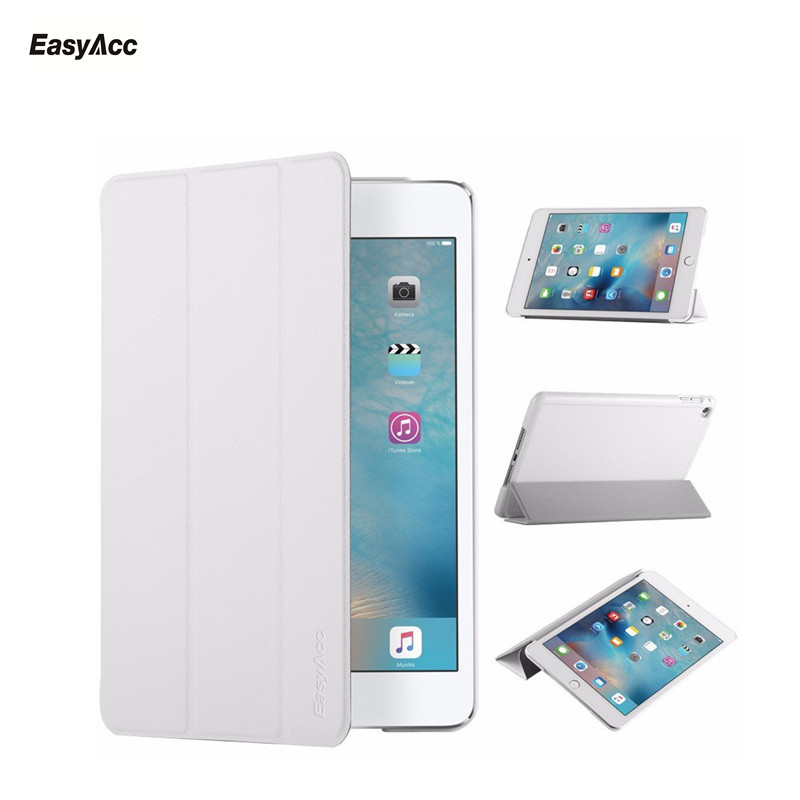 Funda para iPad Mini 4, easyacc Ultra delgado PU funda inteligente con imán Auto Sleep Wake-up/Stand para nuevo iPad mini 4