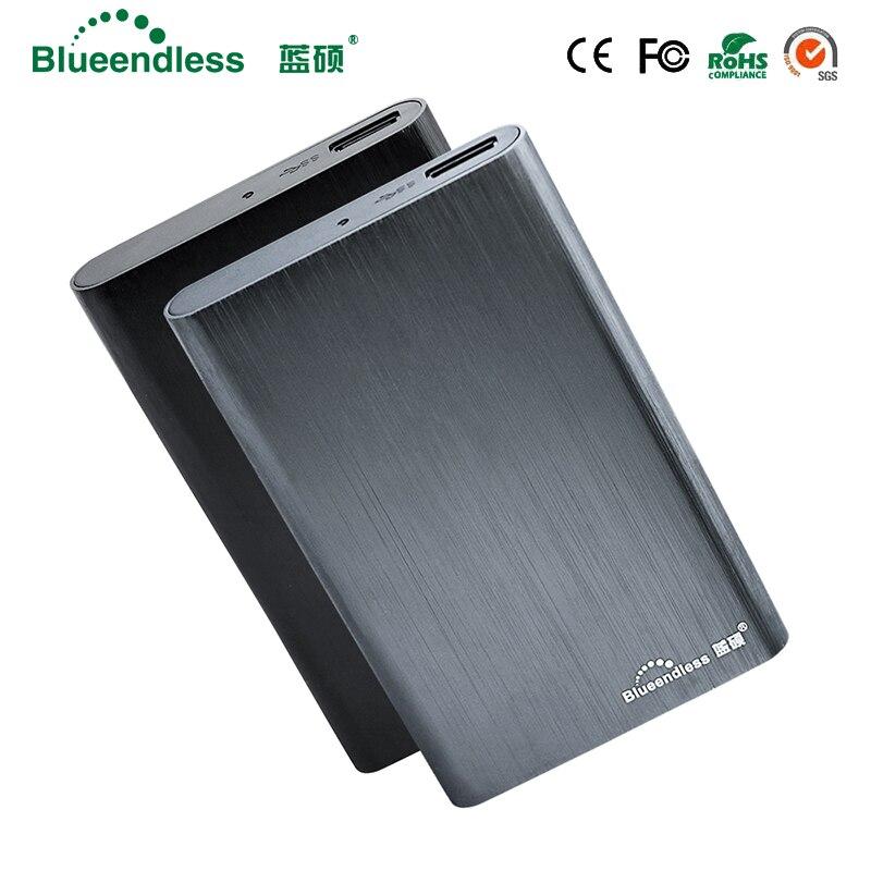 Внешний 320 ГБ/500 ГБ/750 ГБ/1 ТБ/2 ТБ жесткий диск входит жесткий диск SSD 2,5 SATA USB 3,0 Алюминий HDD корпус с Кабель USB 3,0