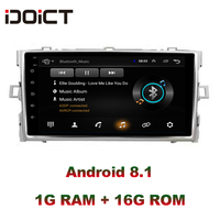 IDOICT Android 8.1 Car DVD Player GPS Navigation Multimedia For Toyota Verso EZ Radio car stereo