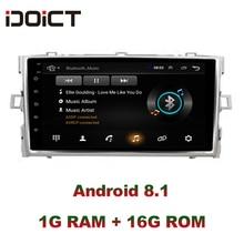IDOICT Android 8,1 DVD плеер автомобиля gps навигации мультимедиа для Toyota Verso EZ Радио стерео