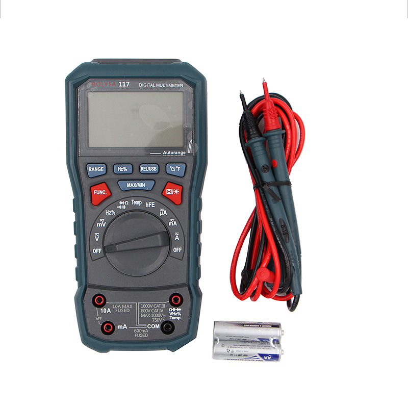 True RMS Professional Digital Multimeter AC/DC Current AC/DC Voltage Resistance Capacitance Frequency Continuity Trans  цены
