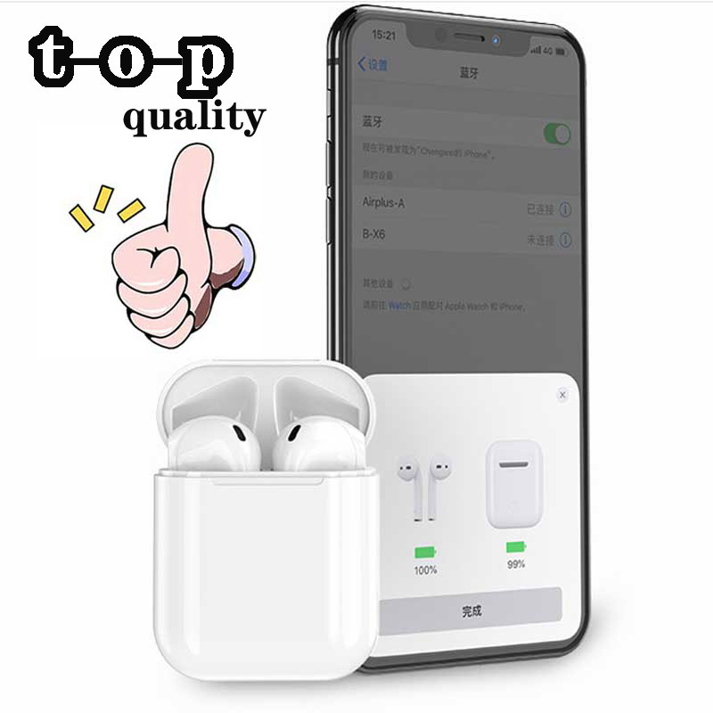 new <font><b>Original</b></font> Air Mini i200 <font><b>TWS</b></font> Touch Wireless Bluetooth Earphone In-ear Headset Earbuds Magnet receiver For iPhone iPod image