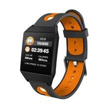 Купить с кэшбэком Timethinker W1 Smart Watch Bracelet Fitness Smartwatch Reloj Blood Pressure Heart Rate Monitor AGPS Pedometer pk Fitbit Ionic