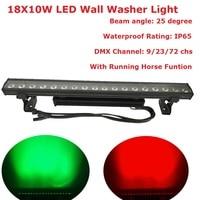 Высокое качество 18x10 Вт горит бар RGBW Quad Цвет светодиодные прожекторы лампы Пейзаж мытья Настенные светильники для крытый украшения