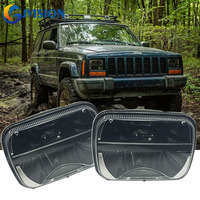 H6054 5X7 Bright LED Smoked Headlight High/Low Beam Replacement lamp for Jeep YJ Cherokee XJ Trucks 4x4 Offroad