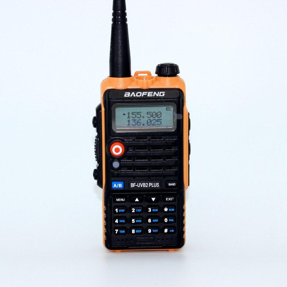 New 8W radio baofeng UV B2 Plus portable dual VHF UHF B2 PLUS 4800mah battery 128ch