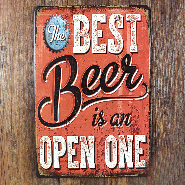 Retro Kitchen Restaurant Poster Painting Metal Beer Wall Art Decor House Tin Sign Coffee
