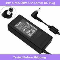 ASUS 19 V 4.74A 5.5*2.5mm AC adaptateur secteur chargeur de voyage pour Asus ADP-90SB BB PA-1900-24 chargeur d'alimentation PA-1900-04