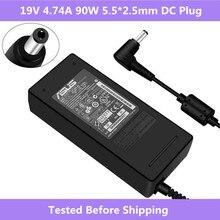 ASUS 19V 4.74A 5.5*2.5mm AC zasilacz laptopa ładowarka podróżna dla Asus ADP 90SB BB PA 1900 24 PA 1900 04 ładowarka zasilająca