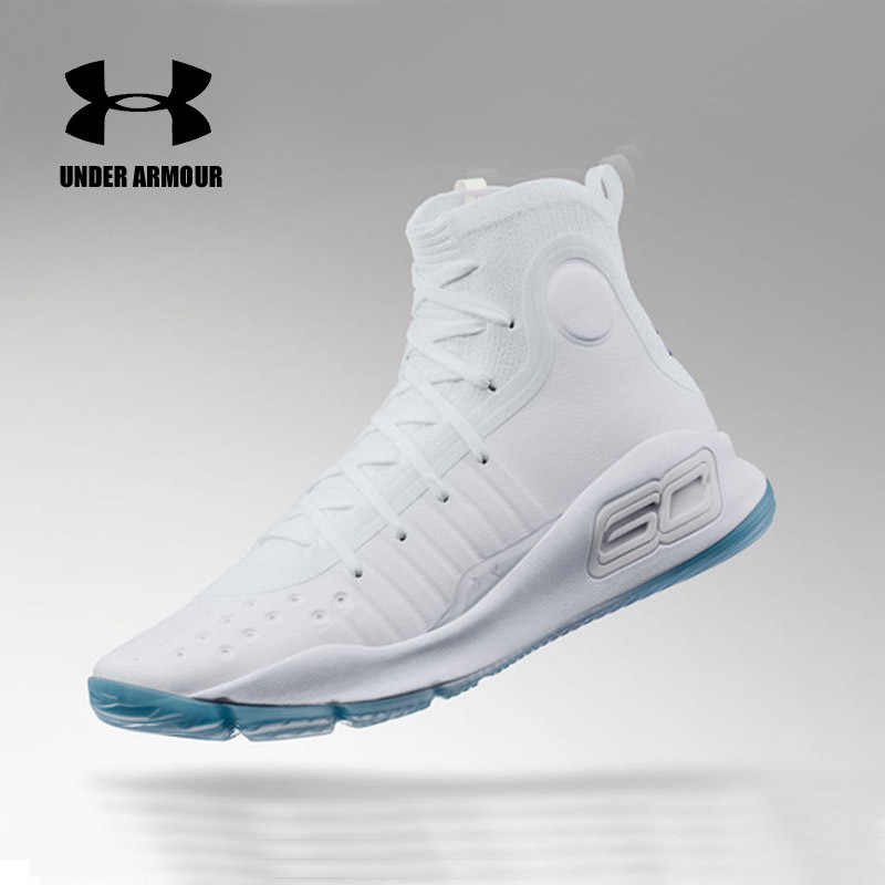4b995b19d ... Under Armour men Curry 4 Basketball Sneakers high top Training Boot  Outdoor Unique Socks Design stephen ...