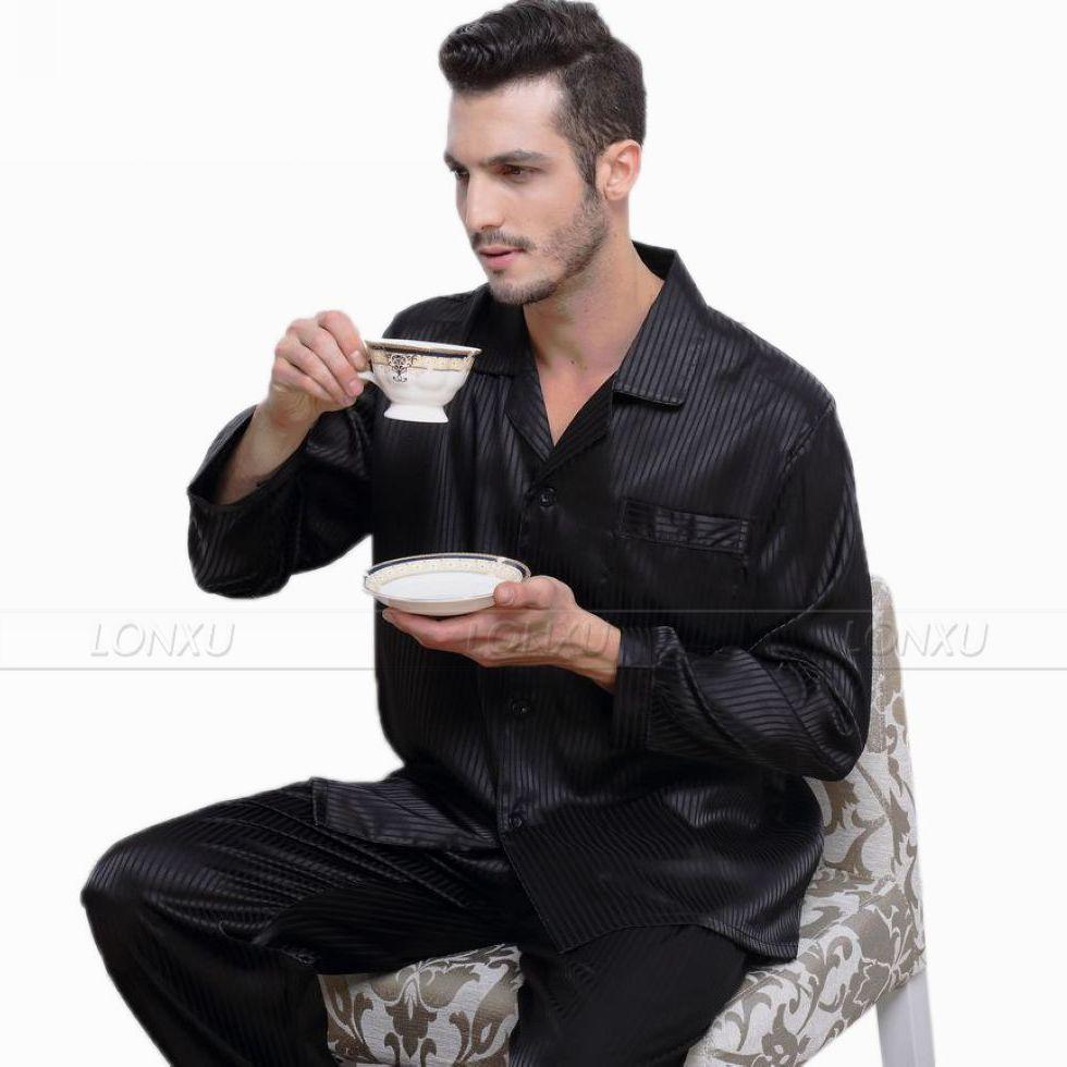 Image 5 - Мужские шелковые атласные пижамы набор пижамы Пижамный Набор пижамы Домашняя одежда S ~ 4XL большие и высокие-in Пижамные комплекты для мужчин from Нижнее белье и пижамы on AliExpress - 11.11_Double 11_Singles' Day